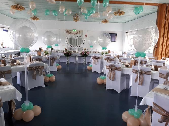 Balluness De Hochzeitsdekoration In Der Farbe Blau Turkis
